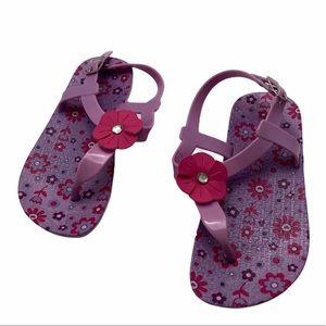 5/$20 Purple Rubber Floral Sandals